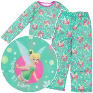 Disney Fairies Tinker Bell Girls Flannel Pants Pajamas