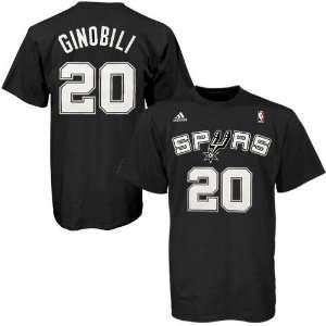adidas San Antonio Spurs #20 Manu Ginobili Black Net
