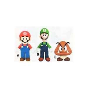 Super Mario 9 Inch Soft Figure   3 Styles (Sofubi) Mario / Luigi