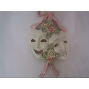 Comedy Tragedy Masks Christmas Ornament 6 1/2 Collectible