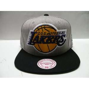 Mitchell and Ness NBA Los Angeles Lakers Big Logo Gray 2