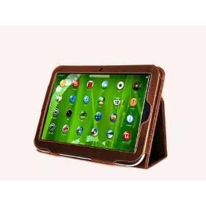 Navitech Brown Genuine Premium Leather Flip Carry Case