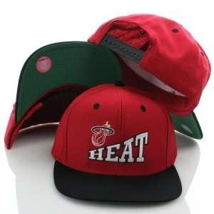 NBA Miami Heat Vintage Red/ Black Two Tone Plastic Snapback Adjustable