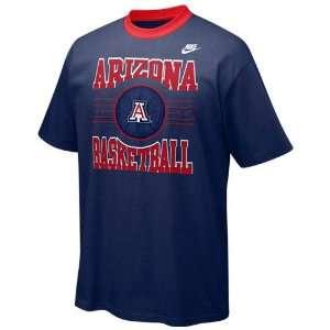 Nike Arizona Wildcats Navy Blue Player Basketball T shirt