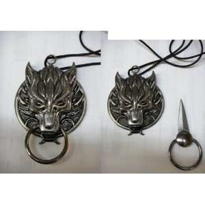 Dragon Head,wih Nose ring, HIdden necklace Knife