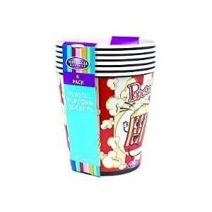 Nostalgia Electrics PPB 600 4 Quart Popcorn Buckets, 6 Pack