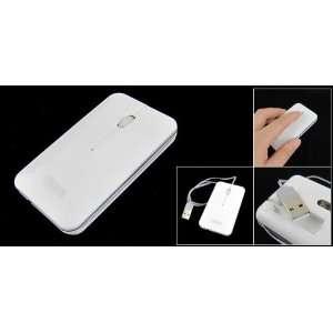 White Rectangle 3D USB Mini Optical Mouse for Laptop PC Electronics
