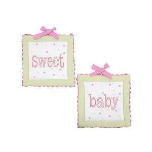My Baby Sam Garden Party Wall Art, Pink/Green Baby