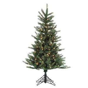 4.5 Pre lit Tiffany Spruce Slim Artificial Christmas Tree