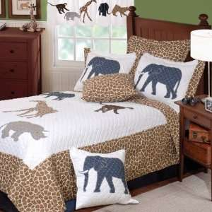 Jungle Story Quilt Set Size Full / Queen Home & Kitchen