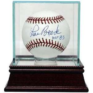 Lou Brock signed Official Major League Baseball HOF85 w