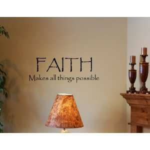 Vinyl wall quotes Religious sayings scriptures home art decor decal