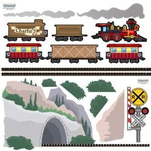Train Mural  Removable, Peel & Stick Kids Theme Wall Decor