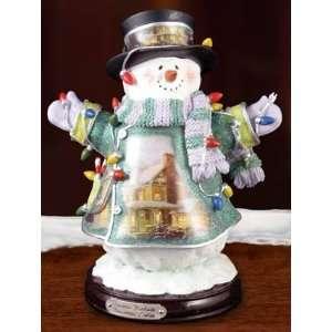 Thomas Kinkade *Christmas Lights* SNOWMAN