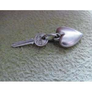 on Reverse) and Small Puffed HEART CHARM   Sterling Silver   Jewelry