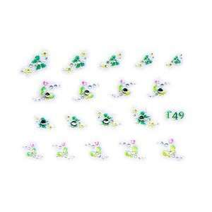 Lime/Green Butterfly Rhinestone Nail Stickers/Decals Beauty