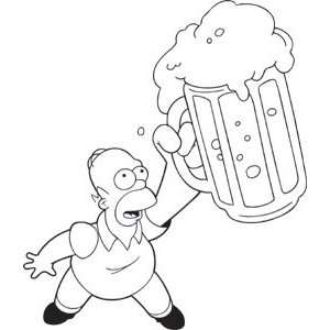 Simpsons Homer Beer Window Decal Sticker S SIM 0031 R: Automotive
