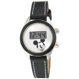 Disney Womens MCK367 Mickey Mouse Black Band Digital Watch Watches