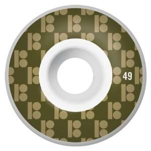 Plan B Monogram Series 49MM Skateboard Wheels (Set of 4):