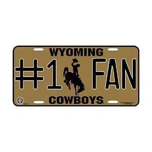 Wyoming Cowboys UW NCAA License Plate #1 Fan