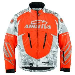 ARCTIVA COMP 6 SNOWMOBILE JACKET ORANGE CAMO SM