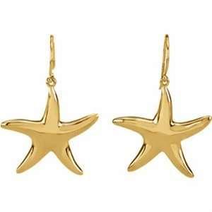 Yellow Gold Starfish Earrings Jewelry Days Jewelry