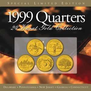24 Kt Gold Plated Annual State Quarter Collection Everything Else