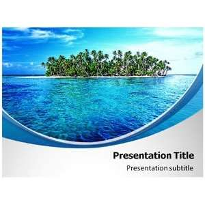 Blue Ocean (PPT) Powerpoint Template  Ocean Powerpoint Templates