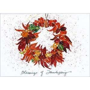 Thanksgiving Day Greeting Card   Wreath from the Pike