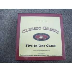 Mojo Classic Games Board Games (Five In One): Toys & Games