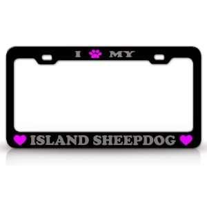 I PAW MY ISLAND SHEEPDOG Dog Pet Animal High Quality STEEL