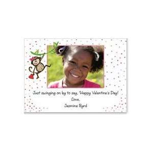 Monkey Girl Kids Photo Valentine Cards Health & Personal