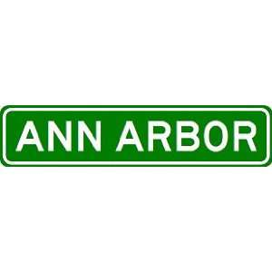 ANN ARBOR City Limit Sign   High Quality Aluminum Sports