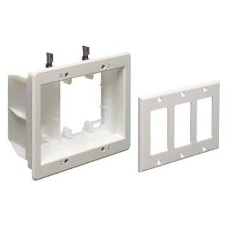 Arlington TVBU507 1 Recessed TV Outlet Box with Paintable Trim Plate