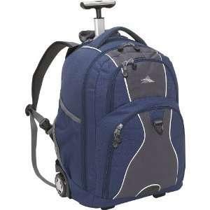 High Sierra Freewheel Wheeled Laptop Backpack   Navy