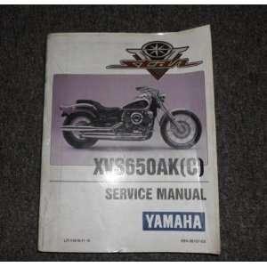 Yamaha V Star XV650AK C Service Shop Repair Manual OEM FACTORY yamaha