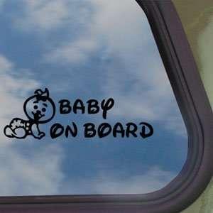 On Board (Girl) Black Decal Car Truck Window Sticker