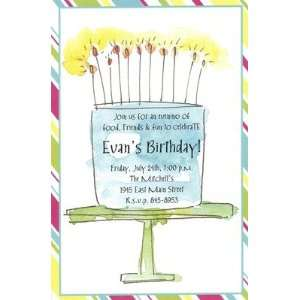Cake Flames, Custom Personalized Girl Birthday Invitation, by Inviting