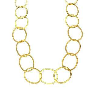 Sterling Silver Gold Plated Large Link Necklaces 30 Inches