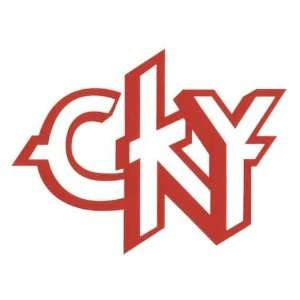 CKY Camp Kill Yourself   Red Logo Cutout Decal   Sticker