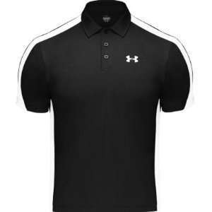 Under Armour Mens Heat Gear Tennis Polo Shirt Black