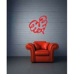 com Curvy Heart Small Vinyl Wall Decal Sticker Graphic By LKS Trading
