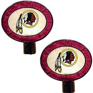 Memory Company Washington Redskins Art Glass Nightlight