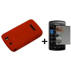 Red Silicone Soft Skin Case Cover for Blackberry Thunder 9500 Storm