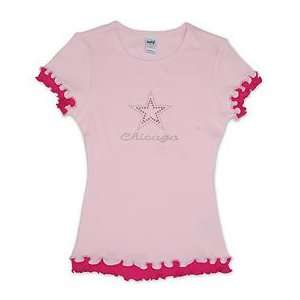 City of Chicago Girls Star T Shirt Sports & Outdoors