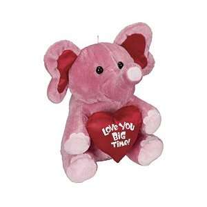 Pink Elephant Love You Big Time Plush Valentines Day