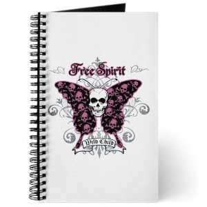 Journal (Diary) with Butterfly Skull Free Spirit Wild