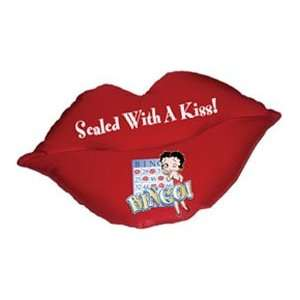 Betty Boop Pillow   Lips Sealed With A Kiss Bingo Betty