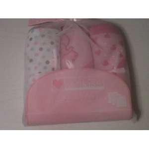 Pink Heart Polka Dot Elephant Hooded Towel (3 Pack) Baby