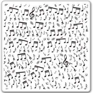 LOVE OF MUSIC musical notes car bumper sticker 4 x 4